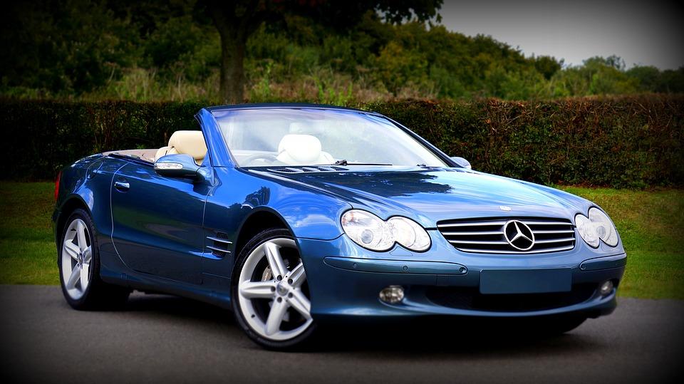 Car Classic Car Blue Convertible Class Fast